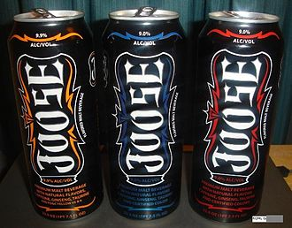Joose - Three cans of Joose depicting various flavors