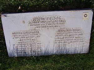 Joseph Fielding - Joseph Fielding's grave marker