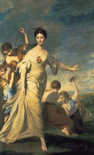 John Hale (British Army officer) - John's wife, Mary Chaloner, as Euphrosyne, painted by Joshua Reynolds
