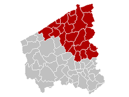 Judicial Arrondissement Bruges Belgium Map.png