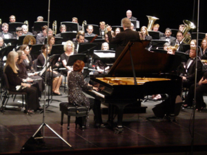 Julie Giroux - The Composer Julie Giroux performing her piece for piano and band named Cordoba in Houston, TX  in 2010.