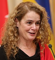 Julie Payette while on a visit to Ukraine in 2018.