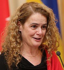 Julie Payette in Ukraine in 2018