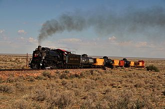 Grand Canyon Railway - Ex-Chicago, Burlington and Quincy Railroad 2-8-2 No. 4960 on the Grand Canyon Railway