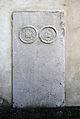Köln Mülheim Friedhof Sonderburger Straße Grabplatte II 17-Jh.JPG