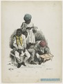 KITLV - 36C329 - Bray, Th. - Petit - Orchestra of a dance party (Negro dance) - Colour lithography - 1850.tif