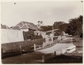 KITLV 40220 - Kassian Céphas - Gate, seen from the side, with wooden drawbridge Fort Vredeburg in Yogyakarta - Around 1896.tif