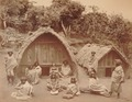 KITLV 92106 - Samuel Bourne - Toda villagers for a house at Ooty in India - 1869.tif