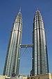 At the Petronas Twin Towers in Kuala Lumpur, t...
