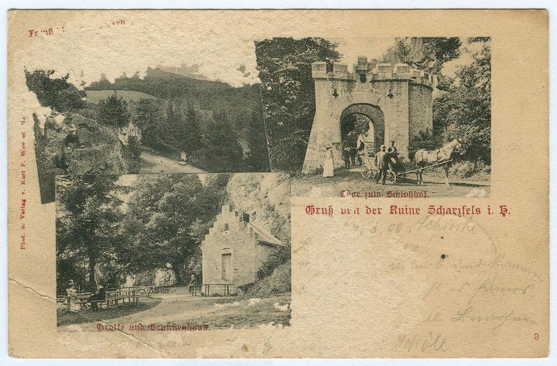 File:Karl F. Wunder PC 0003 Gruß von der Ruine Scharzfels i. H.jpg