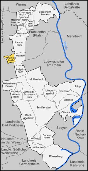 Birkenheide - Image: Karte Birkenheide