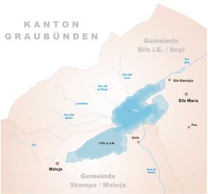 Karte Silsersee