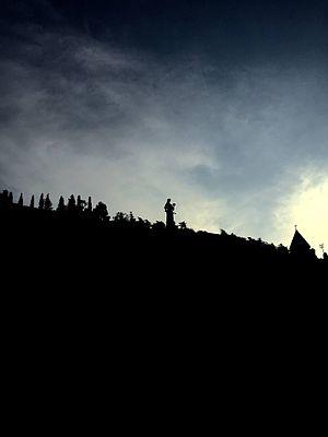 Kartlis Deda - Kartvlis Deda in silhouette.