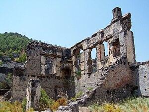 Kayaköy - Abandoned house at Kayaköy