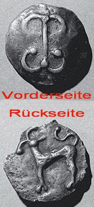 Zürich–Enge Alpenquai - Potin coin of the Zürich Type
