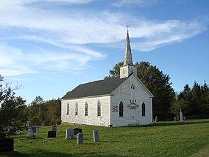 Kempt Shore, Nova Scotia - Church and cemetery in Kempt Shore