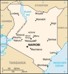 kenia karte Liste der Städte in Kenia – Wikipedia kenia karte