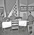 Kenr.maj. Wallenius, kenr.maj. Ignatius ja eversti Arajuuri talvisodan aikaan Torniossa tammikuussa 1940.jpg