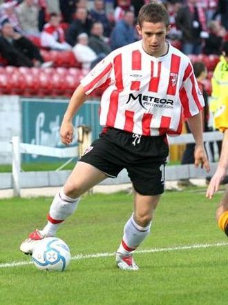 Kevin McHugh - McHugh playing for Derry City during the 2006 League of Ireland Premier Division season