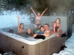 Hot tubbing in Keystone, Colorado.