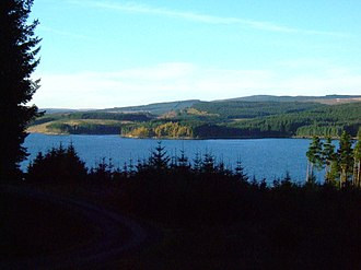 Kielder Forest - Kielder Forest and reservoir, looking north-east from Yarrow