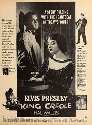 King Creole - Advertisement in Modern Screen (Aug 1958)