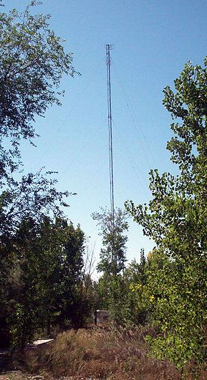 KRRF - The radio tower used by then KJQS in Murray, Utah prior to the collapse in 2015
