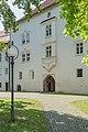 Klagenfurt Viktring Stift Praelatur Portal mit Erker 02092016 4031.jpg