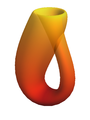 Computer graphics rendering of a Klein bottle