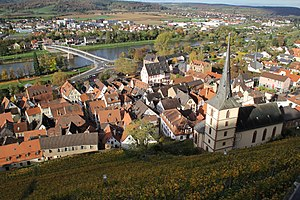 Klingenberg am Main - View of the town from the Clingenburg