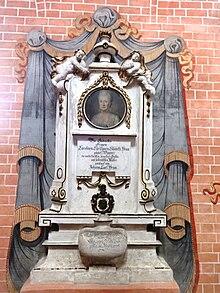 Von Clauren gewidmetes Grabmal für seine Mutter Karoline Christiane Elisabeth Heun (1743–1776) in der Klosterkirche Doberlug (Quelle: Wikimedia)