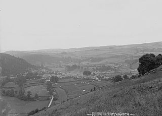 View of Knighton from the Garth