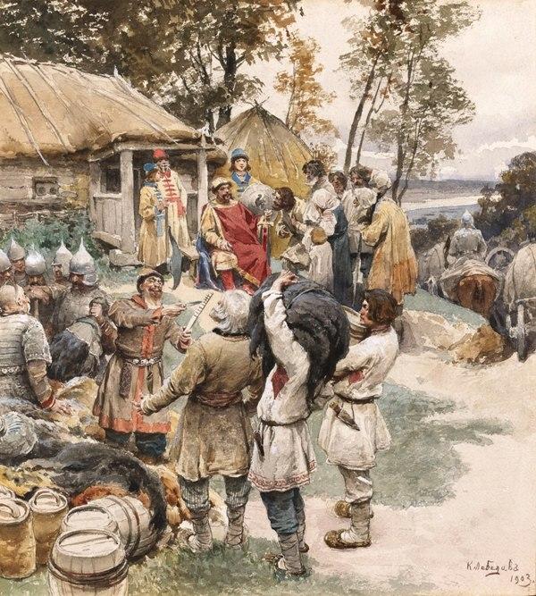 Knyaz Igor in 945 by Lebedev