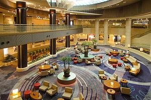 Atrium (architecture) - Kobe Portopia Hotel atrium lobby in 2012