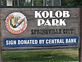 Kolob Park sign in Springville, Utah, Jun 15.jpg