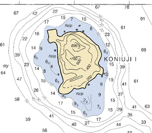 Koniuji Island - Nautical Chart of Kaniuji Island