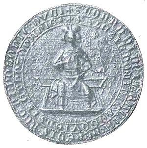 Konrad I of Oleśnica - seal of Konrad I Oleśnicki from 1312