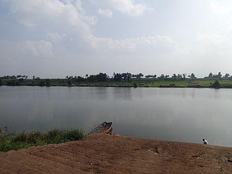 Veerabhadra Temple, Yadur - Krishna River