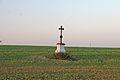 Krucifix, v polích u bývalého větrného mlýna u Lesné.JPG