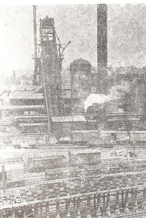 IISCO Steel Plant - India's first blast furnace with coke oven battery in the foreground at Kulti