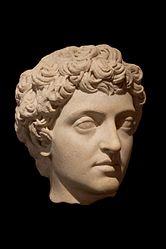 alt=Français: L'empereur Marc Aurèle lors de son adoption par Antonin le Pieux en 138 après J.-C.