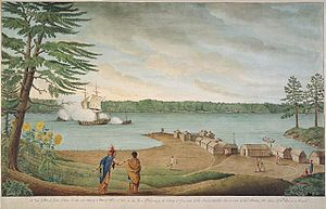 Captura de la corbeta francesa  l'Outaouais  per les troneres de Williamson prop de Point au Baril, per Thomas Davies