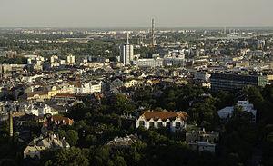 Lágymányos - An overview of Lágymányos from Gellért Hill.