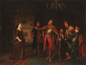 Battle of Trembowla - Anna Dorota Chrzanowska in Trembowla, by Leopold Löffler