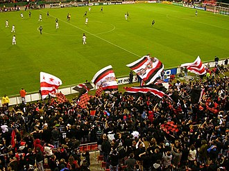 Atlantic Cup (Major League Soccer) - La Barra Brava and Screaming Eagles supporters groups at RFK Stadium.
