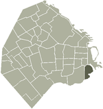 Location of La Boca within Buenos Aires
