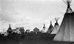 La Loche - The 1918 summer gathering in La Loche