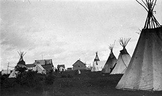 La Loche - The 1918 summer gathering in La Loche