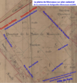 La Plaine Monceau sur plan cadastral de 1846.png