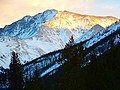 La Plata Peak Dusk in Winter from Independence Pass - panoramio.jpg